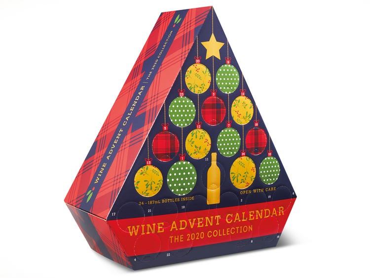 Best food Advent calendars of 2020: 24 days of wine Advent calendar from Aldi's Supermarket