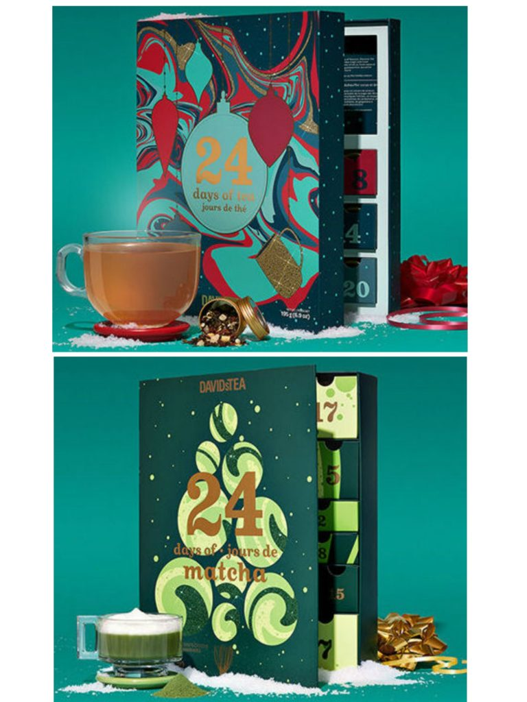 Best food Advent calendars of 2020: Both the regular and the matcha version of Davids Teas Advent calendars