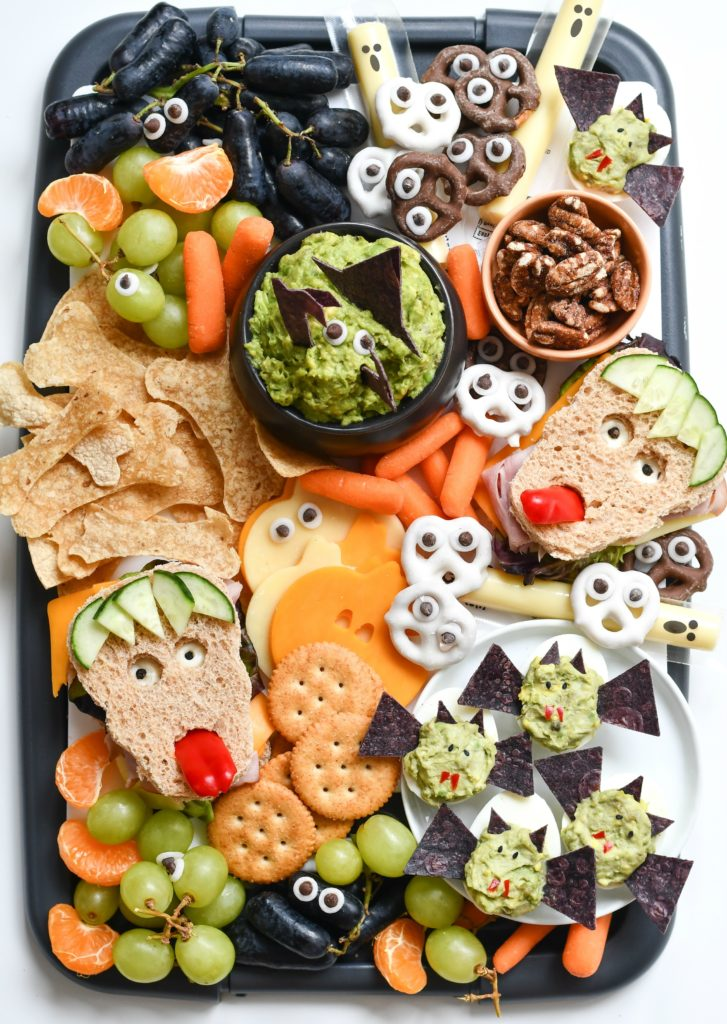 Last-minute Halloween dinner ideas: Throw a bunch of snacks together, like this incredible snack board at Fork and Beans