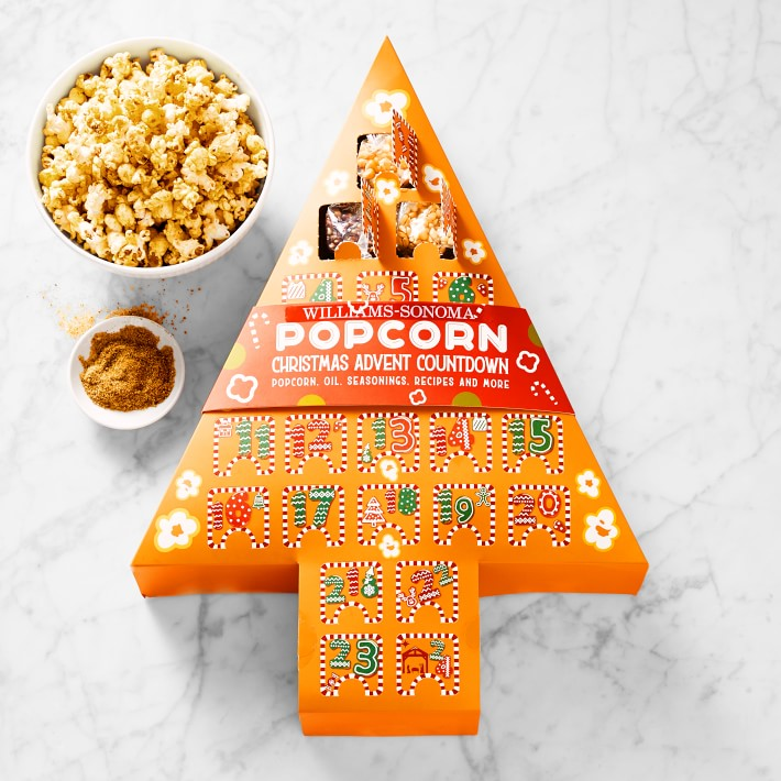 Best food Advent calendars of 2020: Christmas-tree shaped popcorn Advent calendar from Williams Sonoma