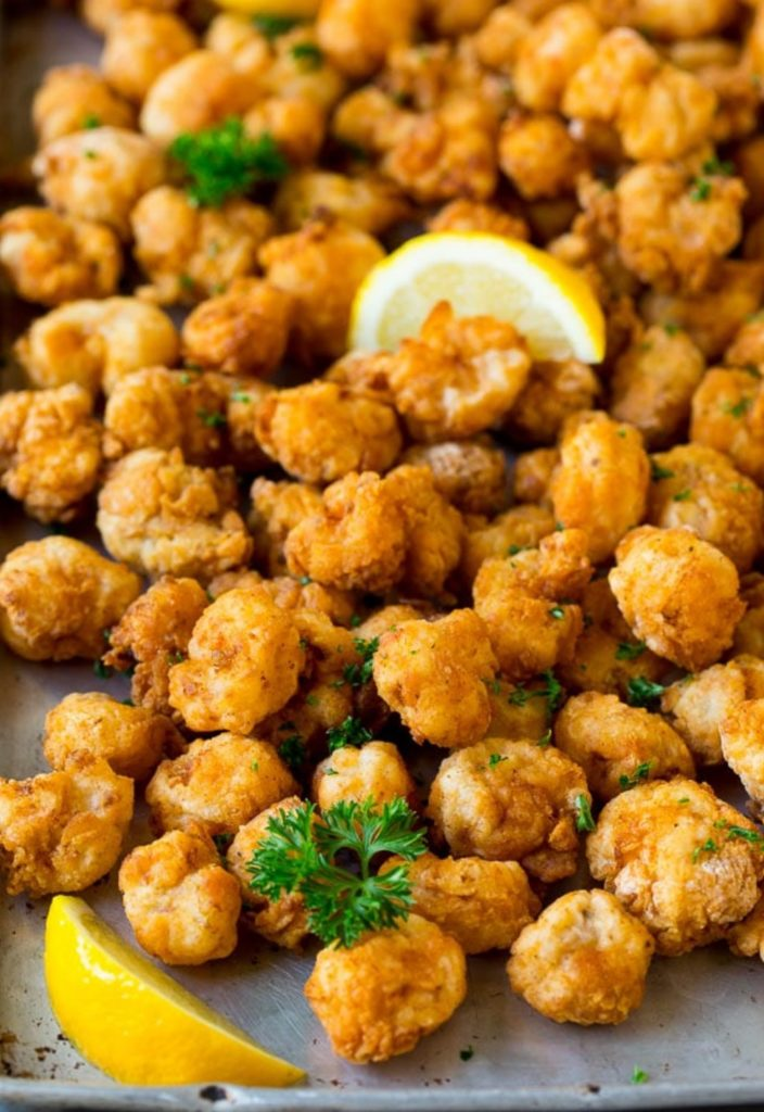 Kids menu favorites upgraded for the family:  Popcorn Shrimp Recipe from Dinner At The Zoo