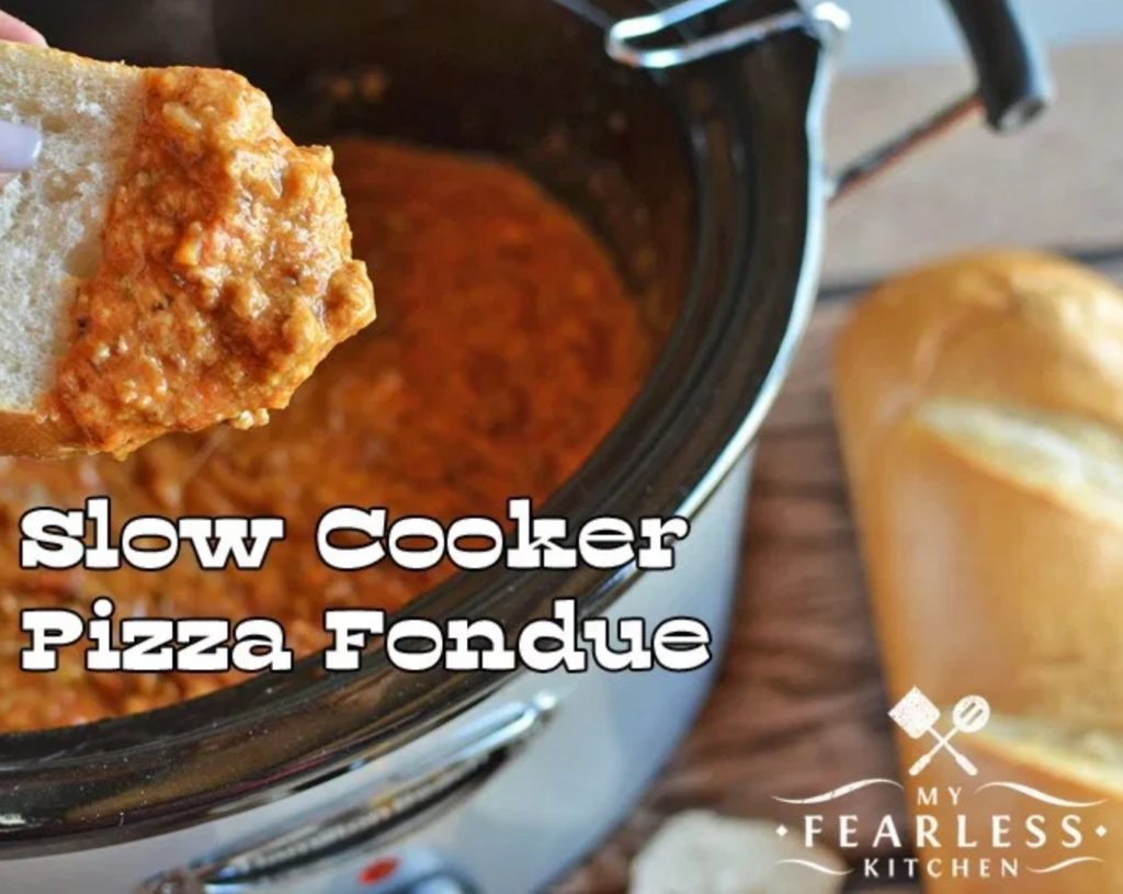 Slow Cooker Pizza Fondue from My Fearless Kitchen