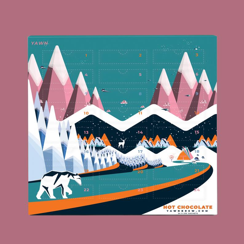 Best food Advent calendars of 2020: Alpine-design, hot chocolate Advent Calendar from Tea Revv