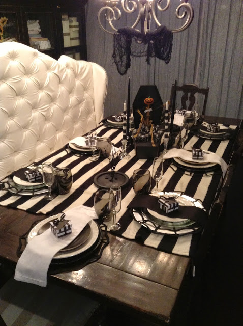 Halloween themed dinner party ideas: Tim Burton and Beetlejuice