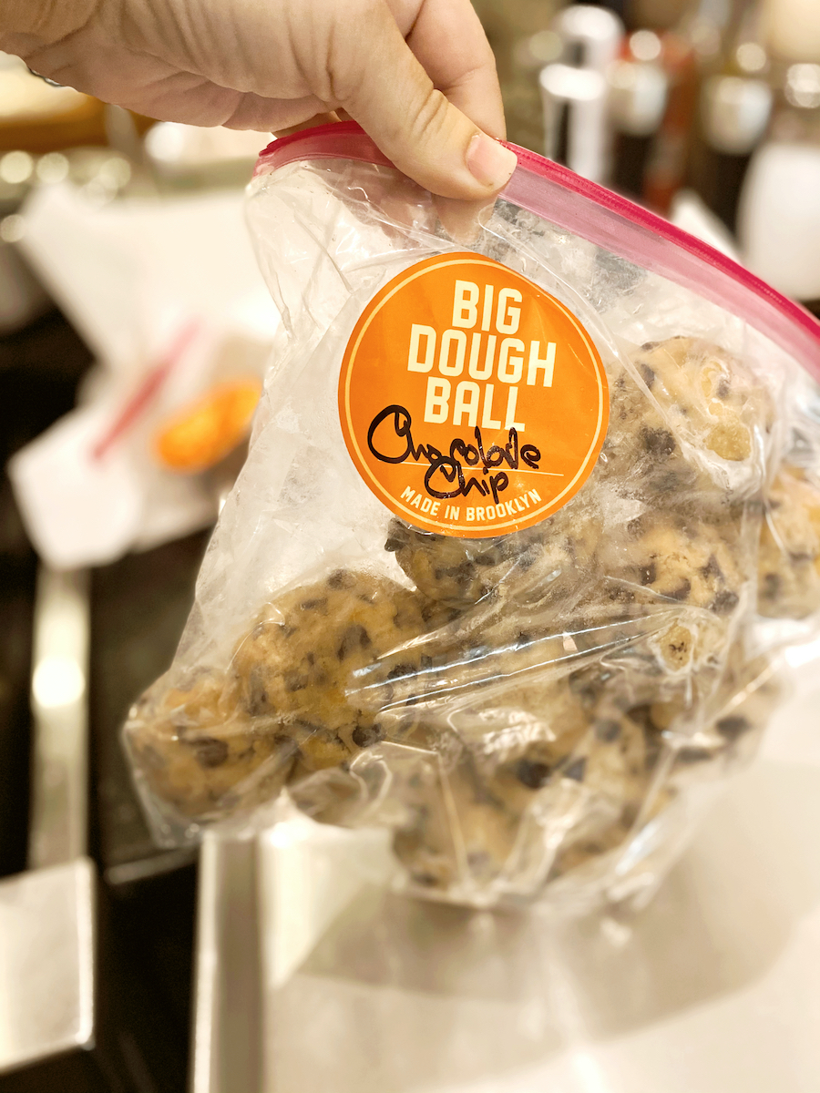 The best frozen cookie dough: Homemade bags of deliciousness from Big Dough Ball. Purchases are donating to great causes too, if you order soon!