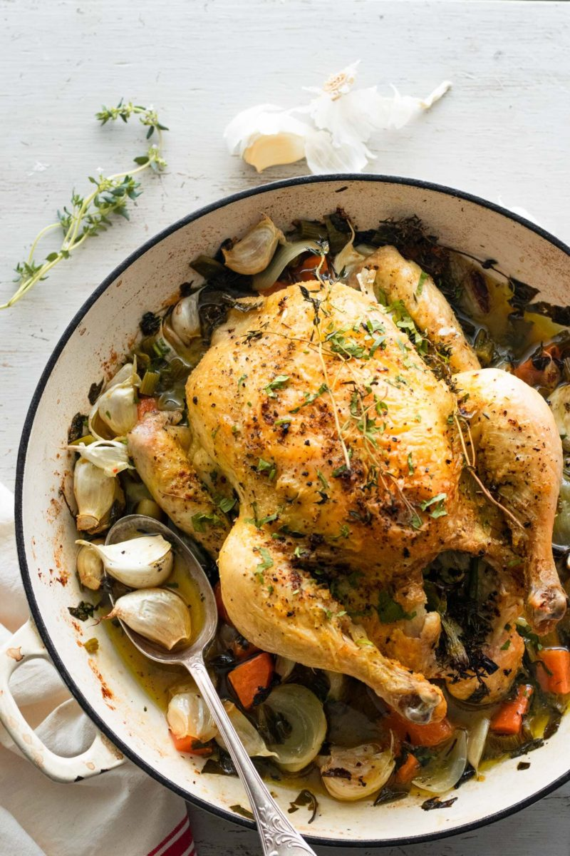 5 immune boosting dinners: Chicken with 40 cloves of garlic at Michelle Bessudo