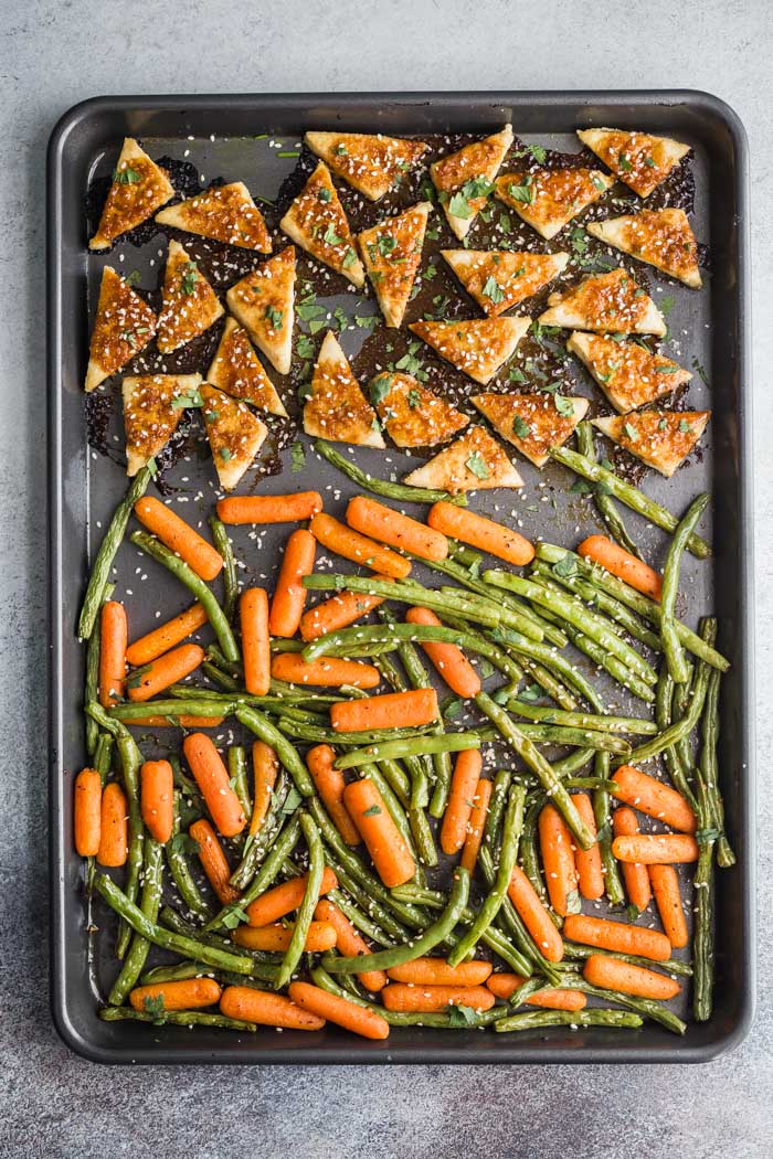 Kid-friendly tofu recipes: Sheet Pan Baked Tofu and Veggies with Garlic: Immune-boosting dinner idea from Food with Feeling