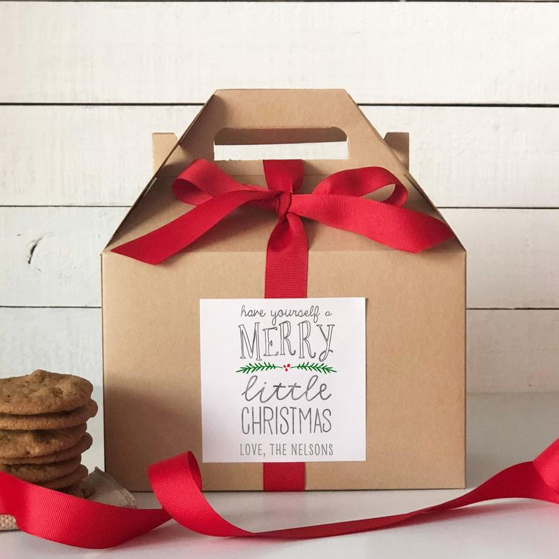 The Favor Box's sturdy personalized cookie box is perfect for an entire batch of cookies