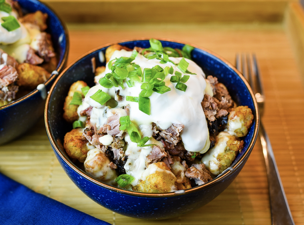 Fully Loaded Brisket Tater Tots from Dude that Cookz