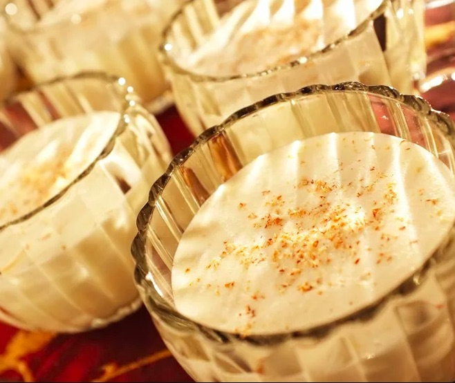 Homemade make-ahead eggnog from Alton Brown is a decadent holiday treat