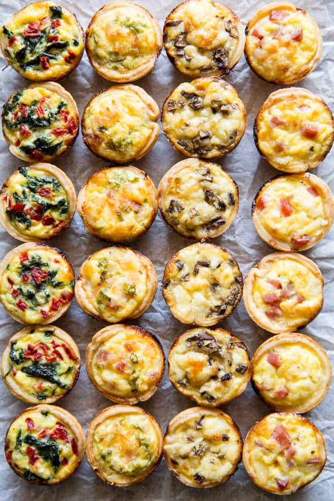 Sidesgiving recipes: Mini Quiche four ways at Culinary Hill