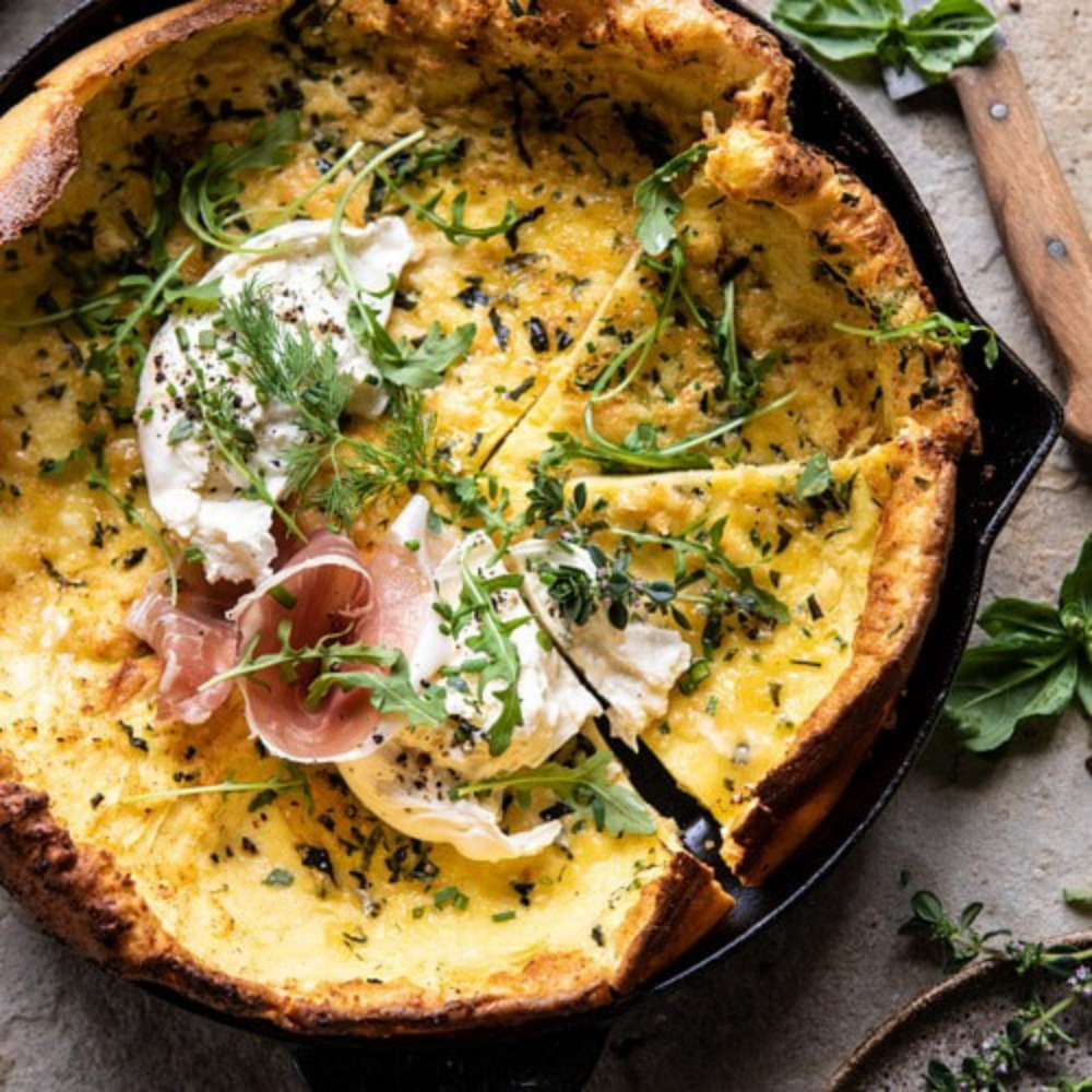 Savory Herb Butter Dutch Baby from Half Baked Harvest