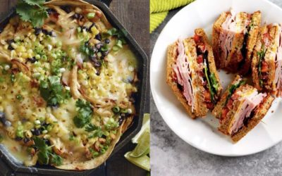 Skillet-Chiptole-Chicken-Enchilada-Bake-from-WhatsGabyCooking-and-ClubSandwiches-from-APinchofHealthy