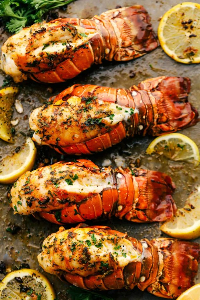 Baked Lobster Tail recipe from The Recipe Critic for a smaller Thanksgiving dinner