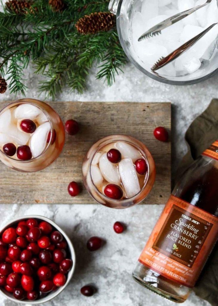 Trader Joe's Sparkling Cranberry Juice cocktail by Moms Dinner