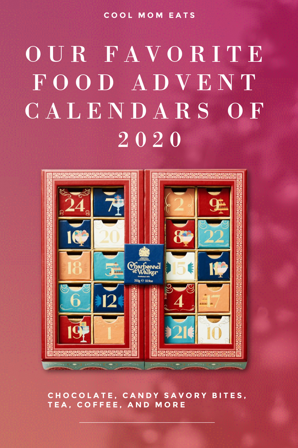 Our favorite food advent calendars of 2020: 15+ ideas from chocolate to savory bites, coffee, tea, candy and more | coolmomeats.com