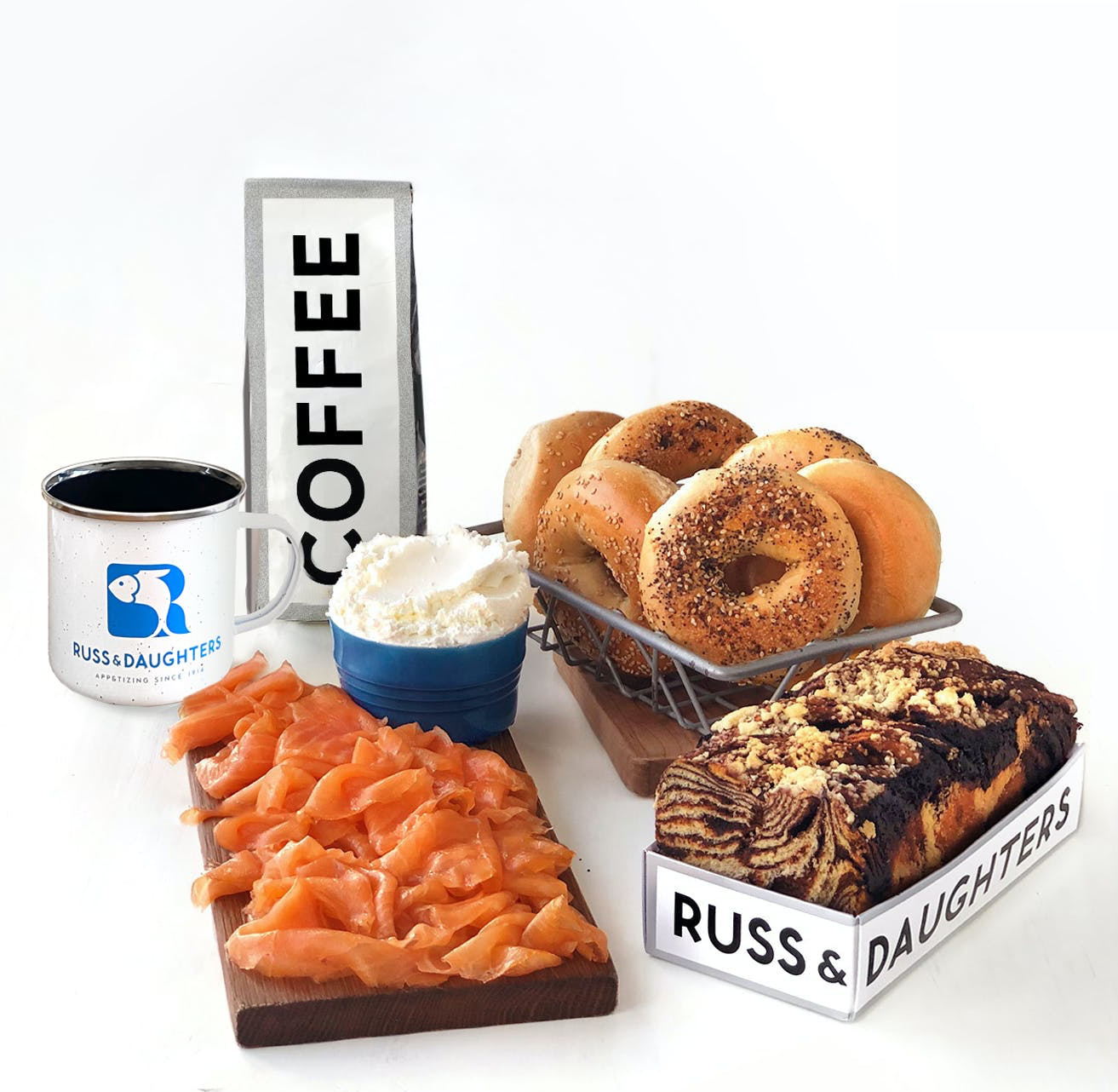 Favorite NYC food gifts: Brunch basket from Russ & Daughters