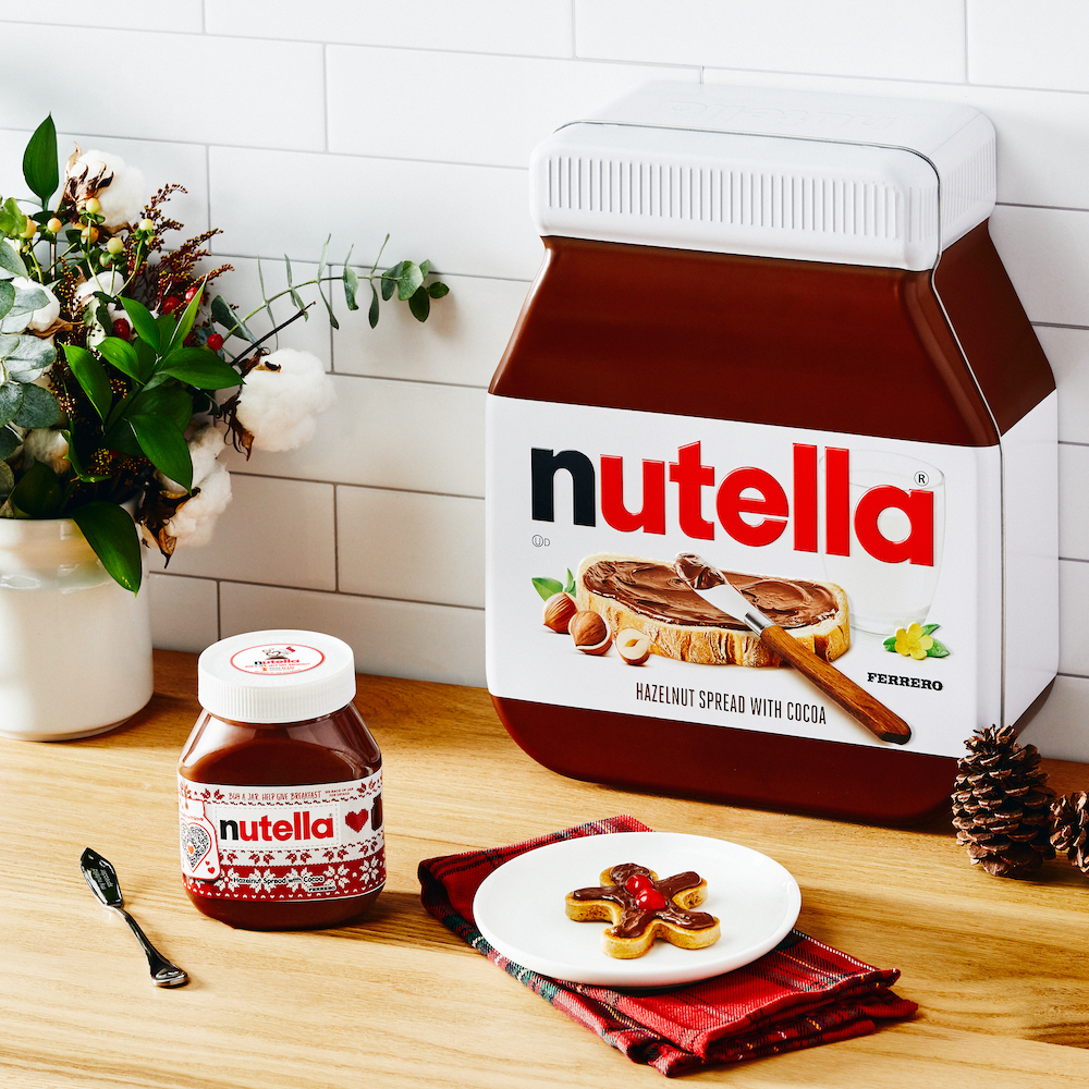 Nutella holiday gingerbread pancake kit benefitting No Kid Hungry