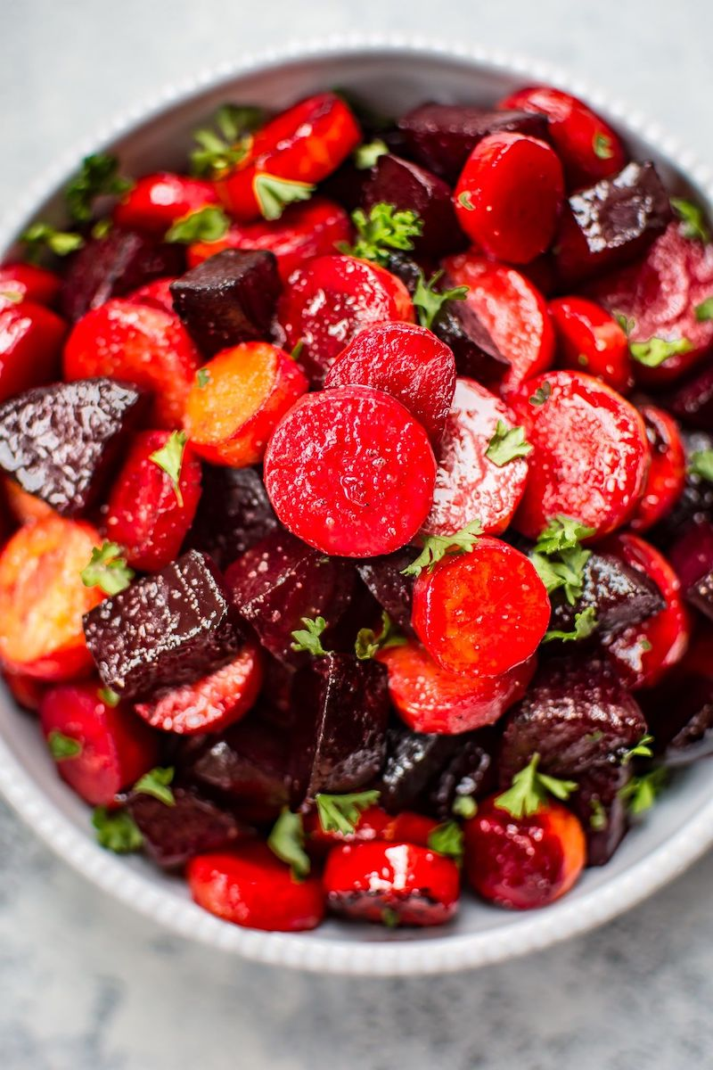 Sidesgiving recipes: Roasted beets and carrots at Salt and Lavender