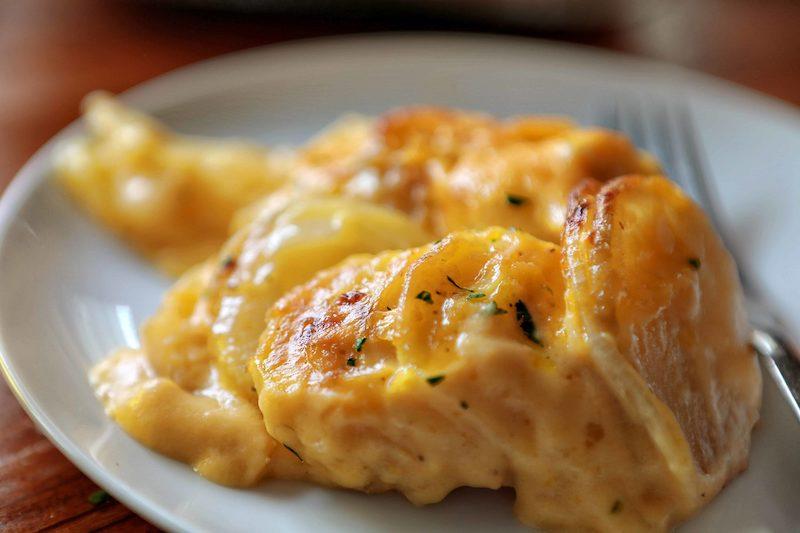 Sidesgiving recipes: Scalloped Potatoes at I Am Baker