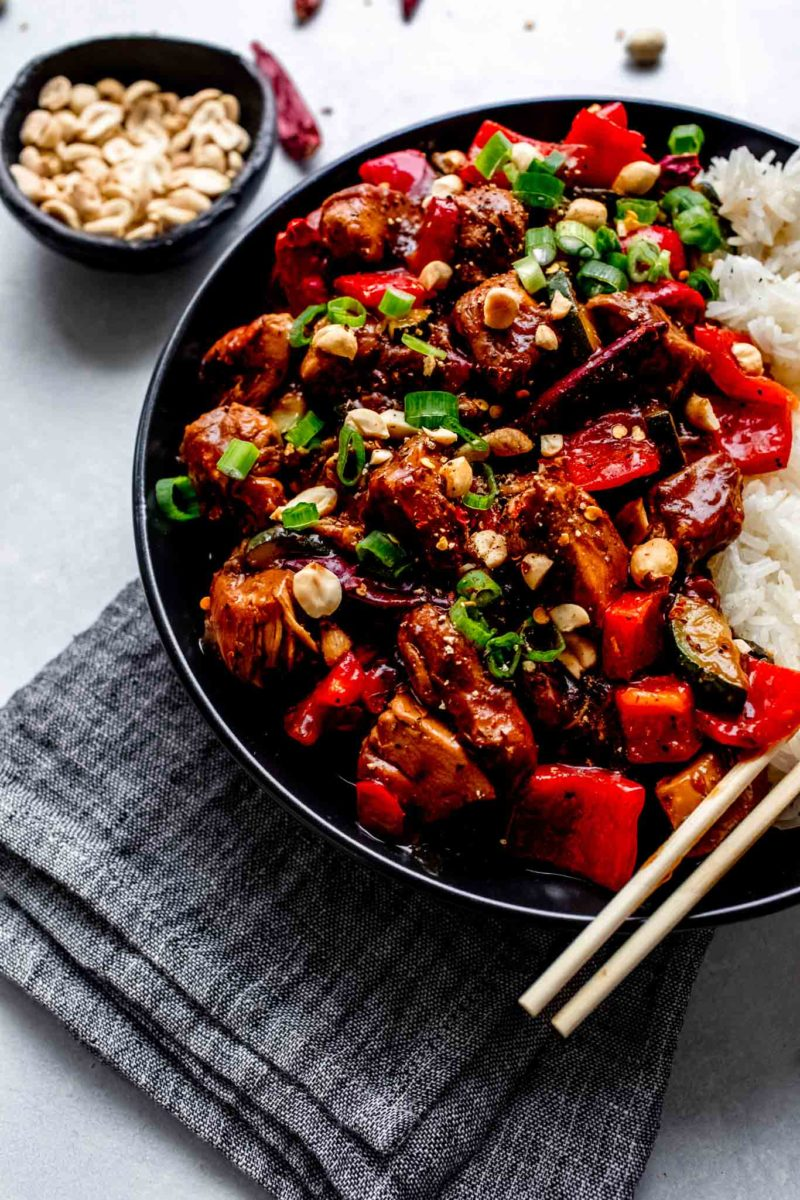 Budget slow cooker dinners under $10: Kung Pao Chicken at Platings and Pairings
