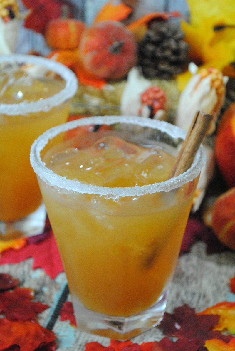 Thanksgiving margarita recipes: Apple cider margaritas at Lady and the Blog