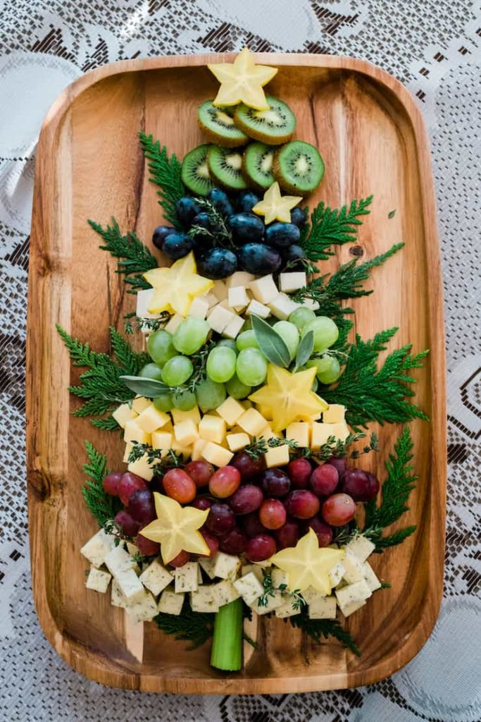 Beautifully sophisticated Christmas tree cheese board from Muy Bueno Cookbook