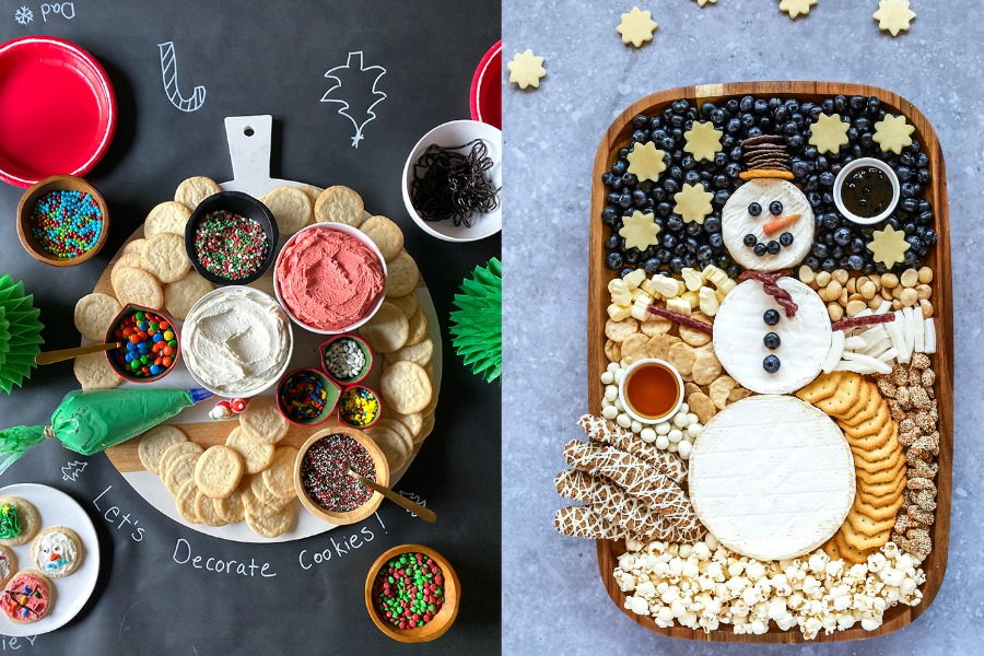 Holiday snack trays! These 9 fun ideas make hanging at home feel like a party