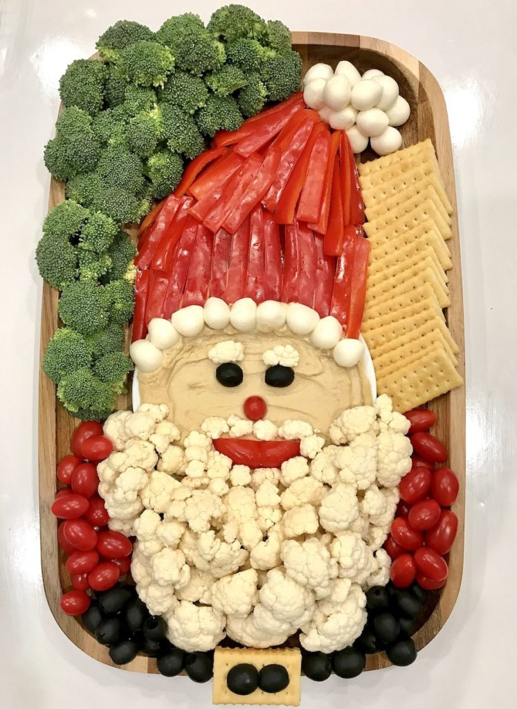 Snack on this Healthy Santa Snack Board with this idea from The Baker Mama