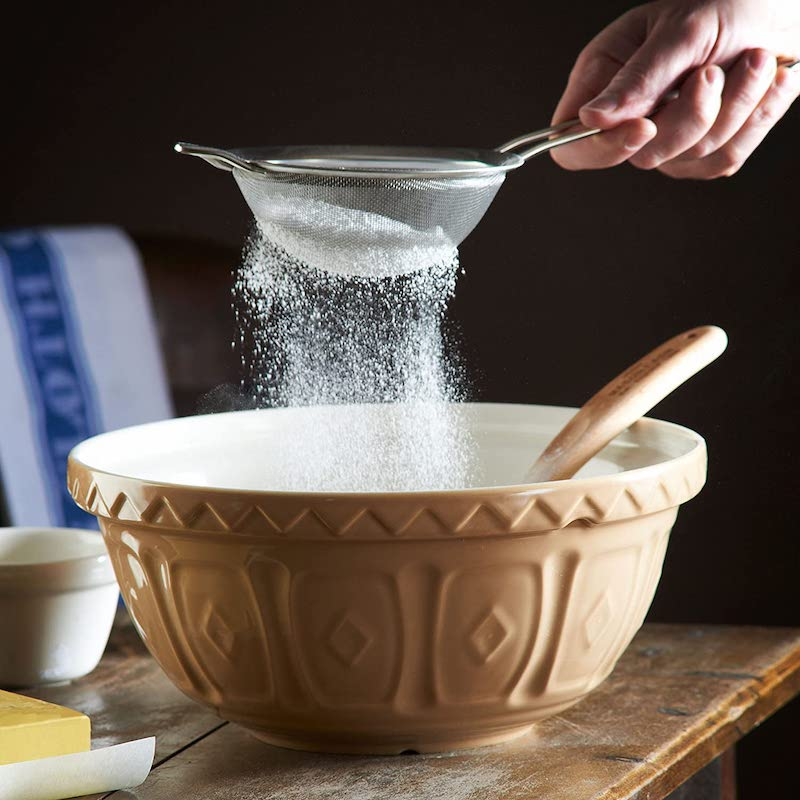 Gift ideas for fans of the Great British Baking Show: Mason Cash mixing bowls, like they use on the show!