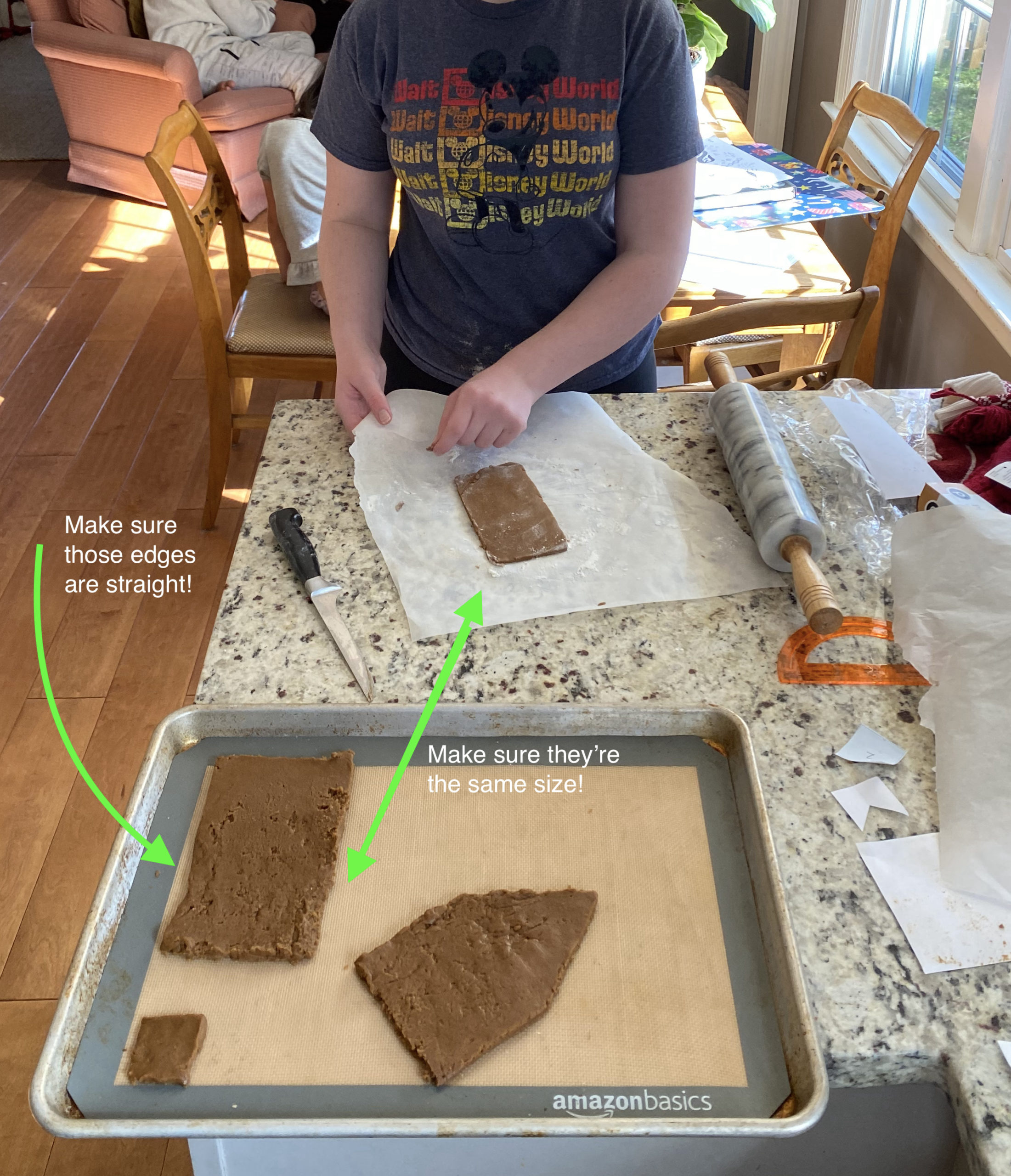 Tips for making a homemade gingerbread house from scratch: Measure twice, cut once! More tips: CoolMomEats.com | Photo © Kate Etue for Cool Mom Eats