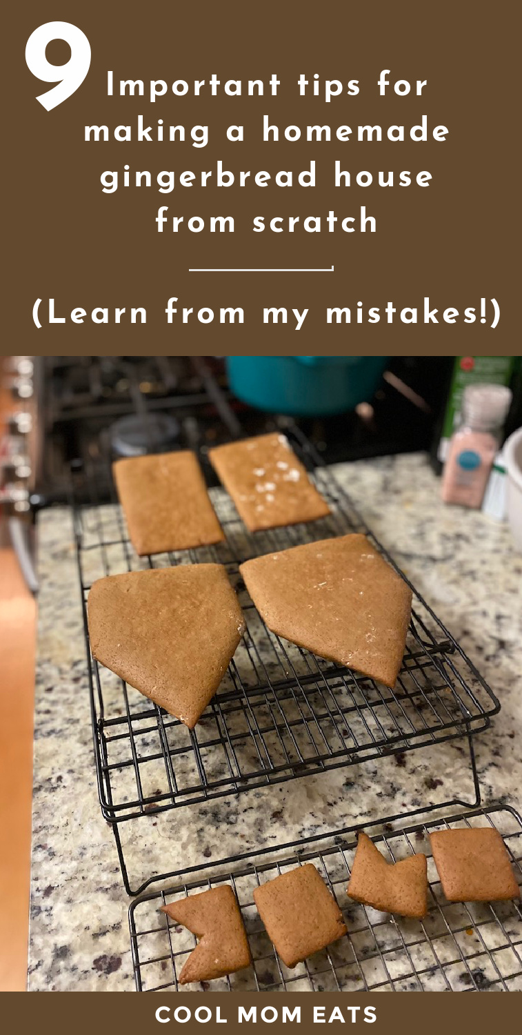 9 essential tips for making a homemade gingerbread house. Yes, from scratch! CoolMomEats.com