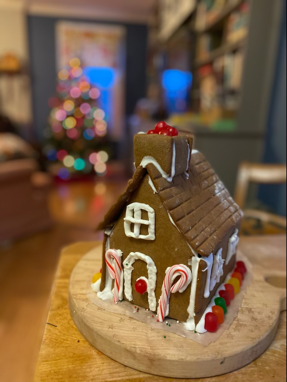 Tips for building your first homemade gingerbread house to maximize fun, and eliminate tears! | Photo © Kate Etue for Cool Mom Eats
