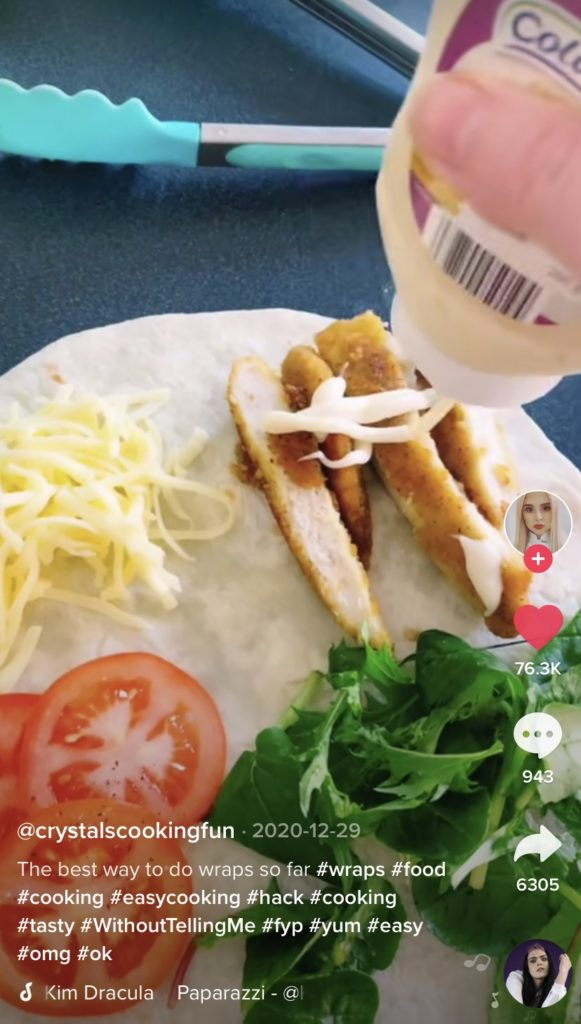 The original chicken folded TikTok sandwich hack from Crystal's Cooking Fun