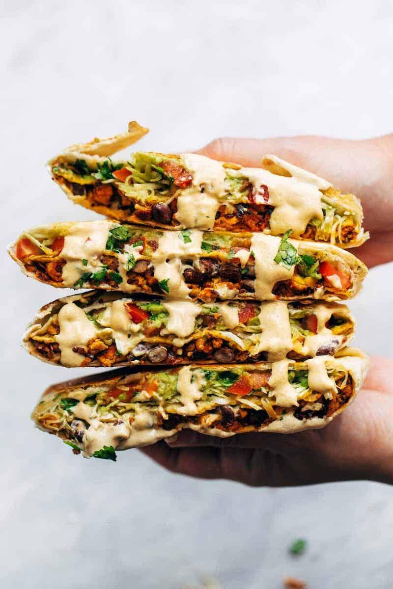 Weekly meal plan: Vegan Crunchwrap Supremes at Pinch of Yum