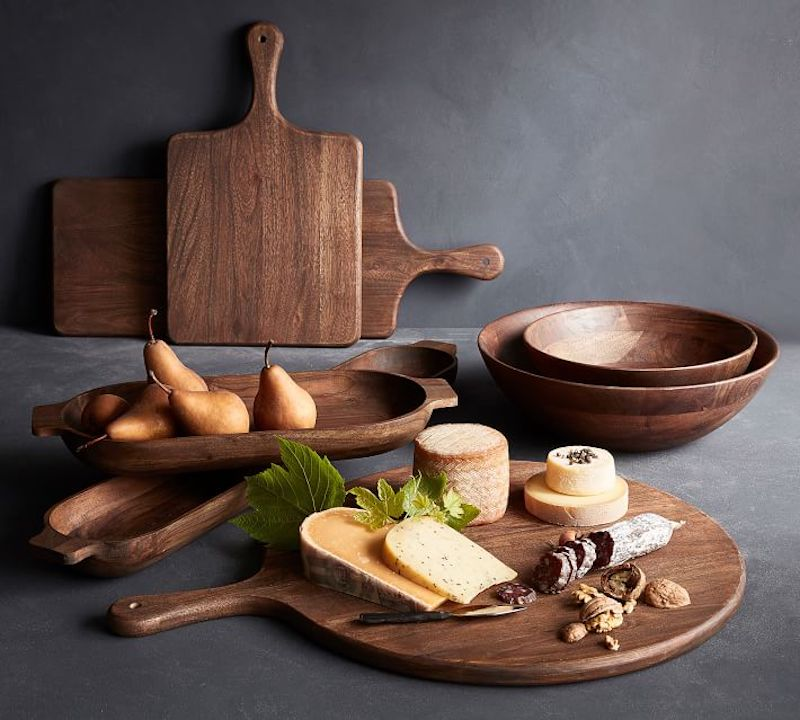 Our favorite boards for charcuterie boards: This pizza board at Pottery Barn does double duty, which is perfect if you need multi-functional kitchen items