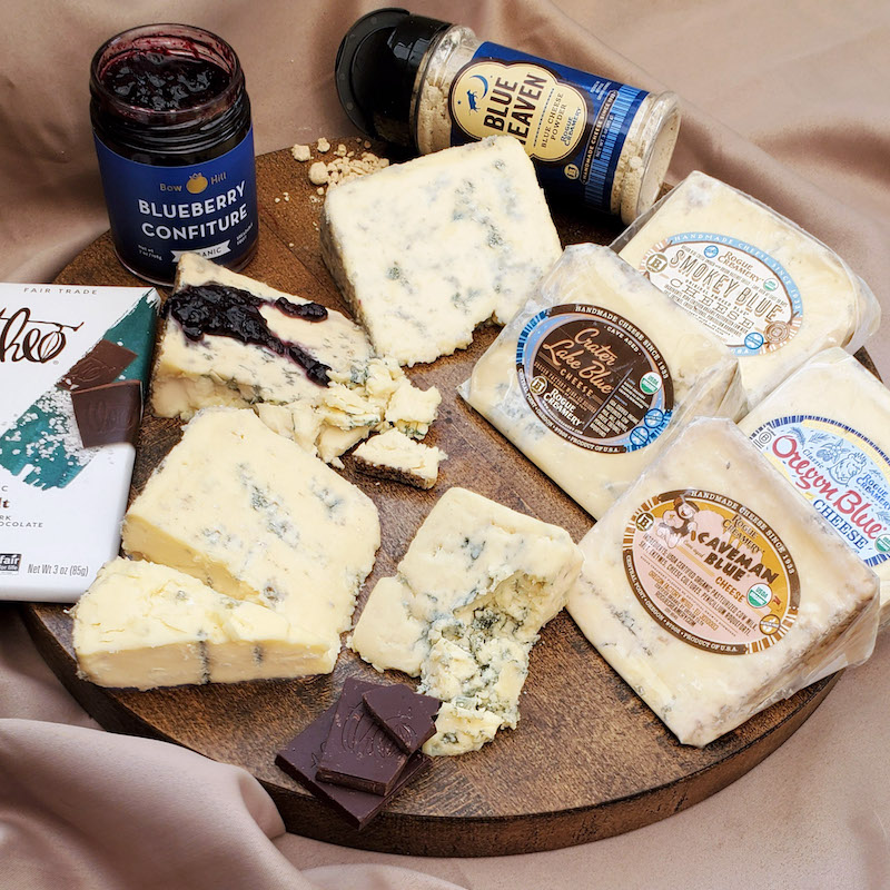 Romantic Valentine's food gifts: A rich and creamy cheese board from Rogue Creamery