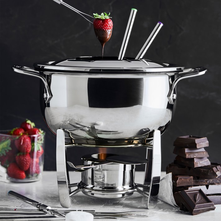 Romantic Valentine food gifts: A nice fondue set like this one by All-Clad