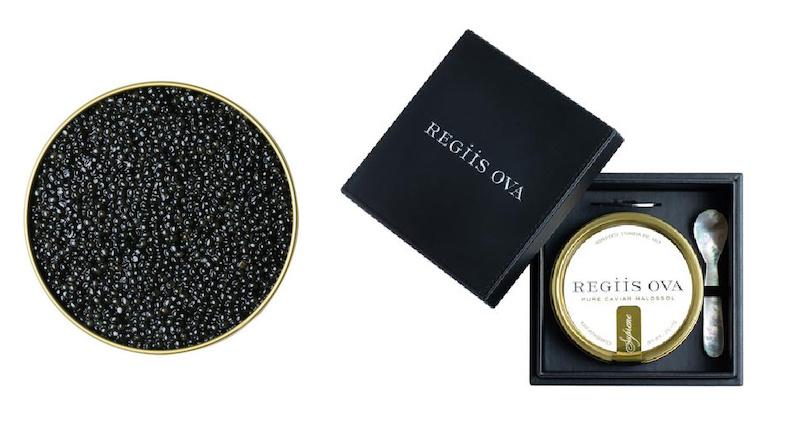 Romantic Valentine food gifts: Splurge on a luxury tin of caviar from Regiis Ova.