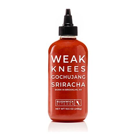 Romantic Valentine's food gifts: Weak Knees gochujang sriracha sauce