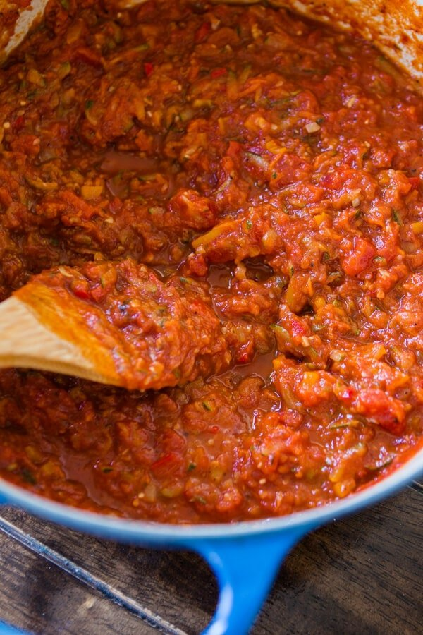 Delicious recipes with hidden veggies: Garden marinara at Oh, Sweet Basil