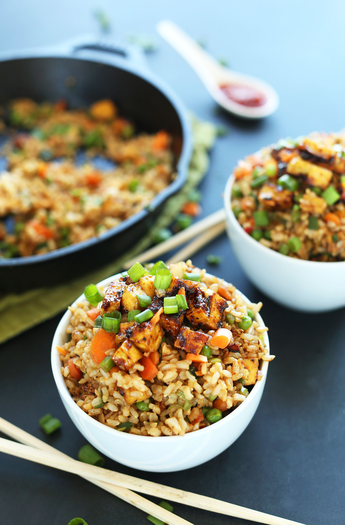 5 tofu recipes for kids: The Vegan fried rice at Minimalist Baker is a favorite of ours