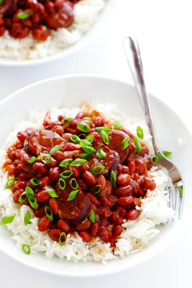 Weekly Meal Plan 9: Crock Pot Red Beans and Rice at Gimme Some Oven