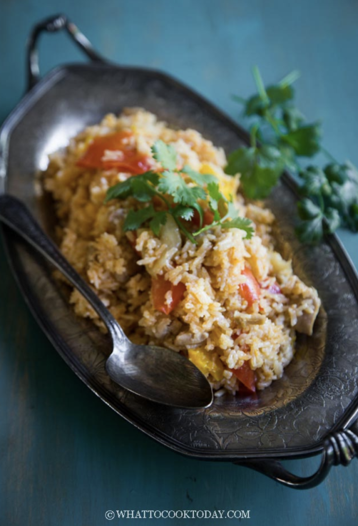 Easy Tom Yum Chicken Rice from What To Cook Today has authentic Asian flavors and is easy to whip up in an Instant Pot