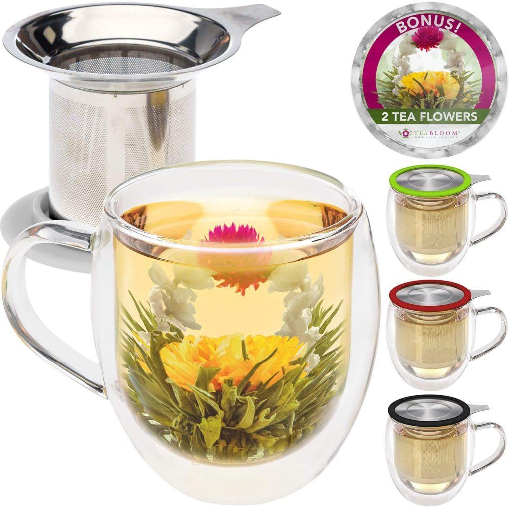 Teabloom's tea mug and infuser make an affordable Mother's Day gift under $25 for a tea lover