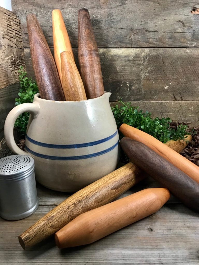 Beautifully made french rolling pins from RK Woodworking make thoughtful Mother's Day gifts under $25
