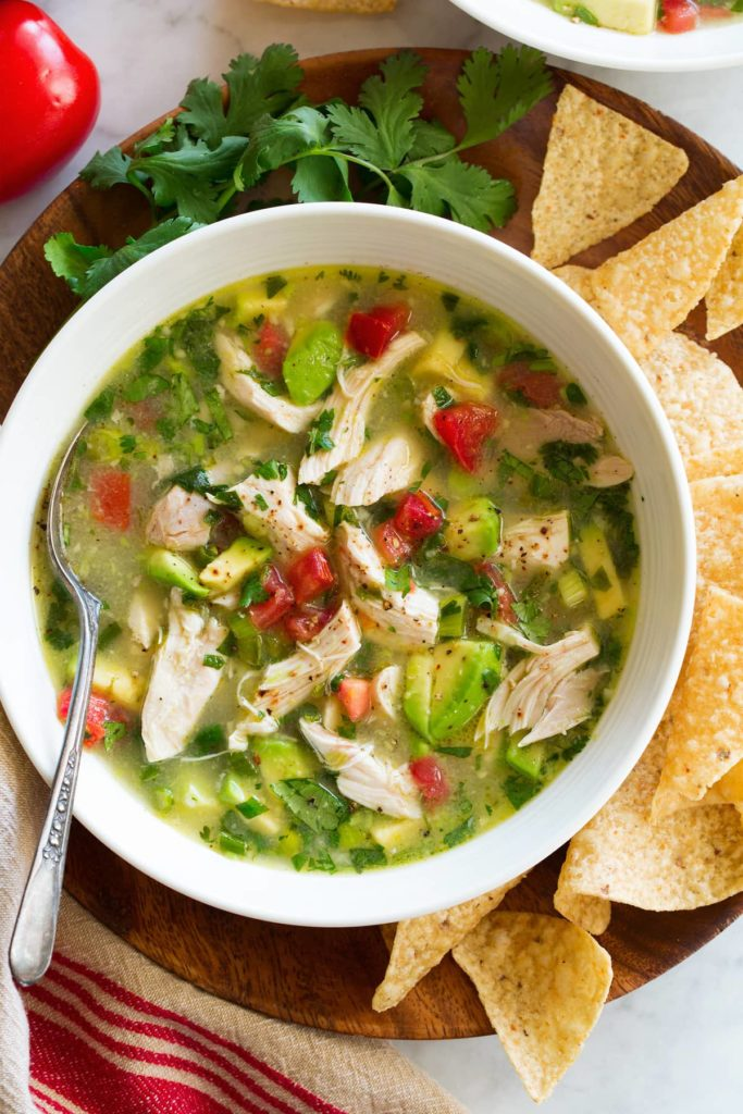 Lighter spring recipes: Spicy Chicken Lime Soup at Cooking Classy