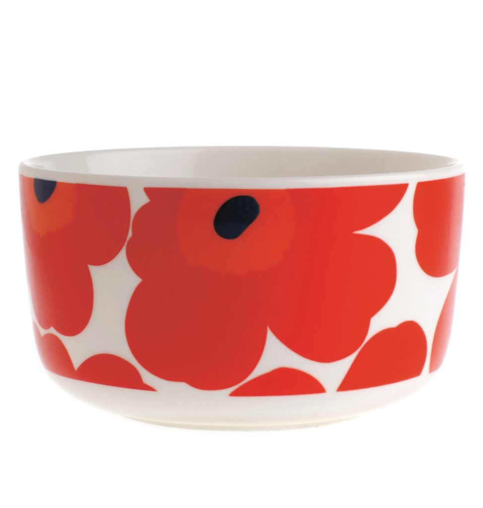 the classic Marimekko poppy bowl is getting us excited for spring soups...and desserts!