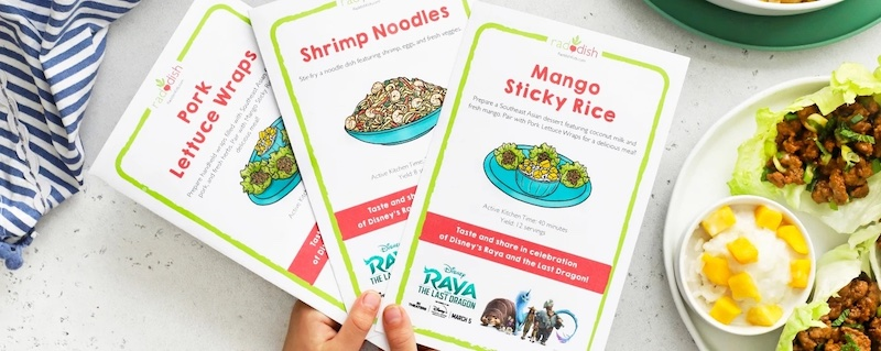 Watching the Raya and the Last Dragon premiere? Make this Asian-inspired menu at Raddish for dinner with the kids first!