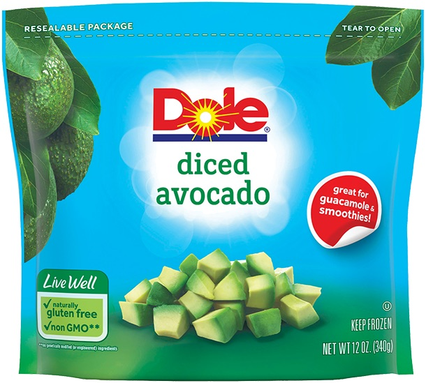 Best packaged avocado options we found: Dole frozen ripe avocado chunks are great to have on hand for guac and smoothies...with a few caveats